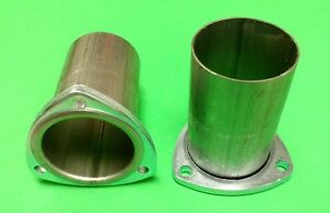 3 Header To 3 Od 409 Stainless 3 Bolt 3 8 Thick Flange Gasket Style Collector