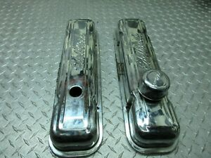 Edelbrock Valve Cover Set Signature Series Chrome Steel For Chevy Sbc