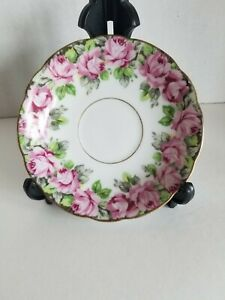 Royal Sealy China Saucer Pink Roses