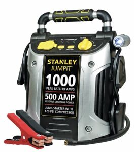 Stanley Car Jump Starter Battery 1000 Peak Amp 12v Jump Starter With Compressor