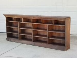 8ft Antique Primitive General Store Counter Hard Yellow Pine Apothecary