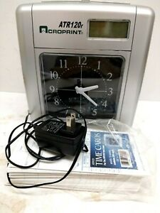 Acroprint Atr120r Time Clock with Time Cards And Instructions Tested Works