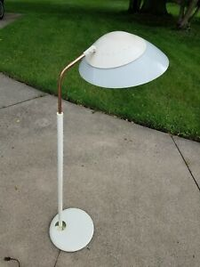 Vtg Mcm Floor Lamp Lightolier Gerald Thurston 50 S 60 S Style Atomic Visor