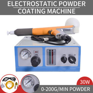Electrostatic Powder Coating Spray Gun Spray Machine Sprayer Paint System Us