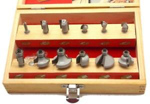 Hickory Woodworking 1 4 Router Bit Set 12 Piece Wooden Storage Box Barely Used