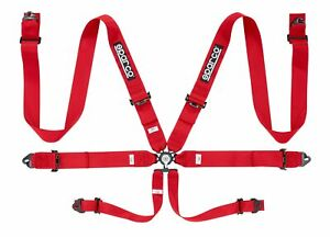Sparco Competition 6 Pt 3 Steel Red Harness 04818racrs
