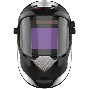 True Color Solar Power Auto Darkening Welding Helmet With Side View Weld Hood