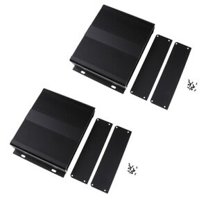 2 Pcs Black Aluminum Pcb Extruded Enclosure Diy Electronic Project Case Box