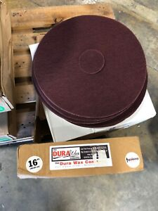 Dura Wax Redwood Floor Cleaning Pads 16 Blue free Shipping 20 Pads Total