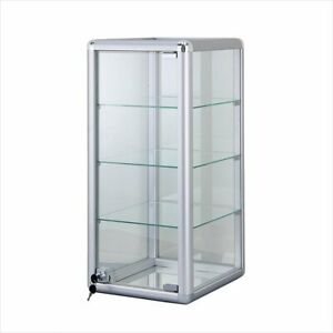 Glass Counter Top Showcase Display Case Vertical With Front Lock