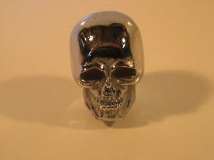 Chrome Old Skool Skull Shift Knob Harley Or Hot Rod Or Rat Rod