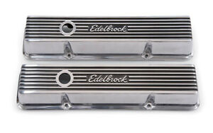 Edelbrock Valve Cover Kit Elite Ii Series Sbc Short P N 4262
