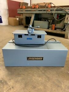 Used 24 Ga Lockformer Portable Pittsburgh Machine With Power Flanging Attachment