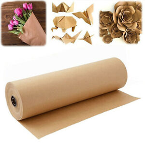 98yds Length Brown Kraft Wrapping Paper Roll For Gift Wrapping 30cm Wide