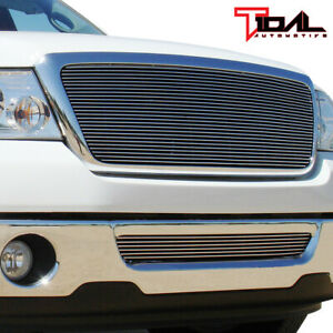 Tidal Fits 06 08 Ford F 150 Chrome Aluminum Billet Grille W Shell