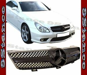 Glossy Bright Black Cls Front Cover Grille For 04 08 Benz W219 Cls sedan Model