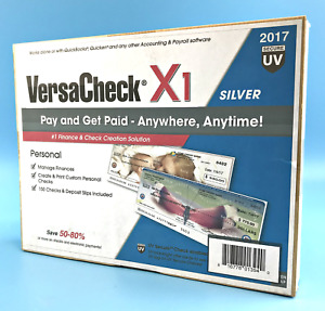 2017 Versacheckx1 Silver Manage Finances 150 Checks deposit Slips Included 3940