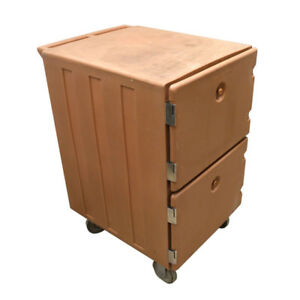 Cambro 1200mpc Clay Colored 2 section 2 door 6 pan Insulated Food Carrier