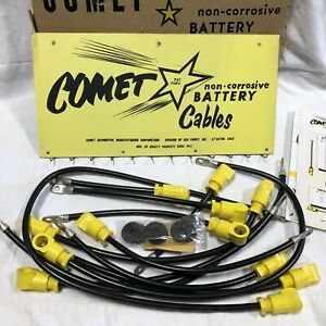 Vintage Comet Battery Cables Rack Display Nos 1950s Nos Auto Parts Store Hot Rod