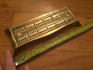Mid 19th Century Brass Cribbage Board Likely English W Fancy Form