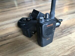 Motorola Mag One Bpr40 Two Way Radio 2 Chargers Black With Clip And Battery s