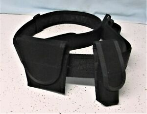 Police Security Combat Gear Tactical Black Utility Nylon Duty Belt 46 52 Inches