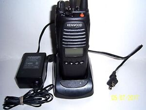 Kenwood Tk 5410 K 2 V 3 Radio With Charger Good Used Battery