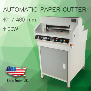 19 480mm Automatic Electric Paper Cutter Cutting Machine Trimmer 4806k 1400w