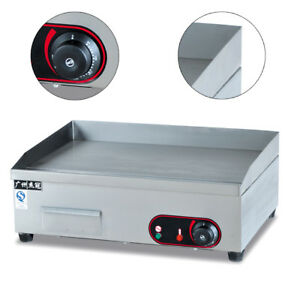 3kw Commercial Electric Hotplate Grill Griddle Bbq Flat Top Cooktop Teppanyaki