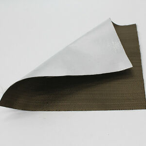 Aluminized Titanium Heat Shield Aluminized Basalt Fiber Cloth 1mx 1 2m Tape Wrap