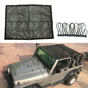 Eclipse Uv Sun Shade Full Cover Mesh Extended Bikini Top For Jeep Wrangler Tj Y