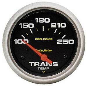 Auto Meter 2 5 8in Pro Comp Trans Temp Gauge 100 250 P N 5457