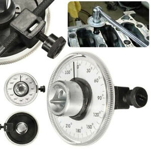 1 2 Adjustable Drive Torque Angle Gauge Auto Garage Tool For Hand Wrench Kw