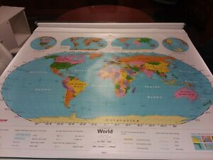 Nystrom 1ns991 World United States Pull Down Map