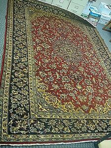 100 Hand Knotted Vintage Persian Wool Rug 6 X 9