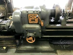 Ryerson Conradson 25 Selective Head Lathe 20 4 jaw Chuck 12 Ft Bed