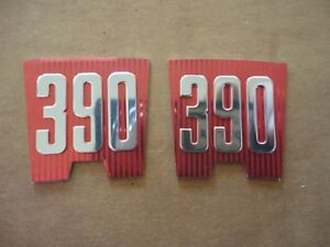 New 1965 Ford Galaxie 390 Fender Emblem Inserts Pair American Made Quality Xl