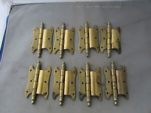 Lot 8 Vtg Nos Offset Hinges Brass Plated 3 5 Butterfly Amerock