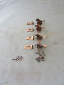 Lot Of 4 Vtg Elbow Latch Catch Hoosier Cabinet Cupboard Hardware Nos W Screws