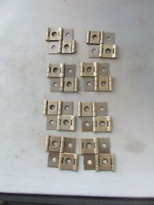 Lot 8 Vtg Nos Brass Finish Double Action Hinges 2 X 1 75 Screen Door