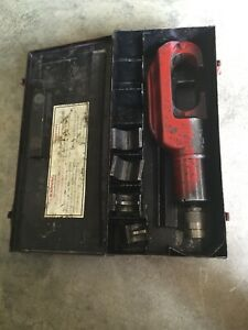 Burndy Y46 Hypress Remote Hyd Power Op Crimping Tool Case P1011 P 998 Dies