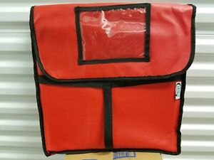 5 Pack Insulated Catering Pizza Food Delivery Carrier Hot Bag Box Red 18 16