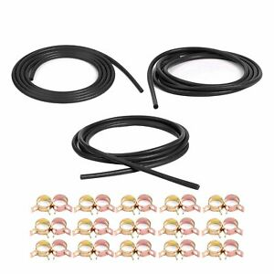 Silicone Air Vacuum Hose Kit Spring Clamps Kit Black Fit Toyota