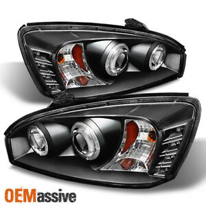 Fits Black 04 08 Chevy Malibu Halo Projector Led Headlights Lamps Left Right