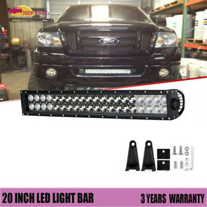 Spot flood Combo 20inch 120w Led Light Bar Driving Lamp Offroad For 4wd Suv