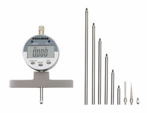 0 22 Electronic Digital Depth Gauge Inch metric fractional 2 Extra Points