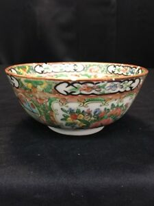 Chinese Export Porcelain Famille Rose Soup Bowl C 1840 Lh1246
