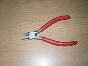 Snap On 860dcp 6 Diagonal Cutting Cutter Pliers Red Grip Usa