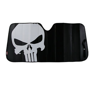 New Marvel Punisher Skull Car Truck Front Windshield Accordion Folding Sun Shade