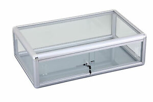 Glass Counter Top Showcase Display Case Store Fixture With Front Lock